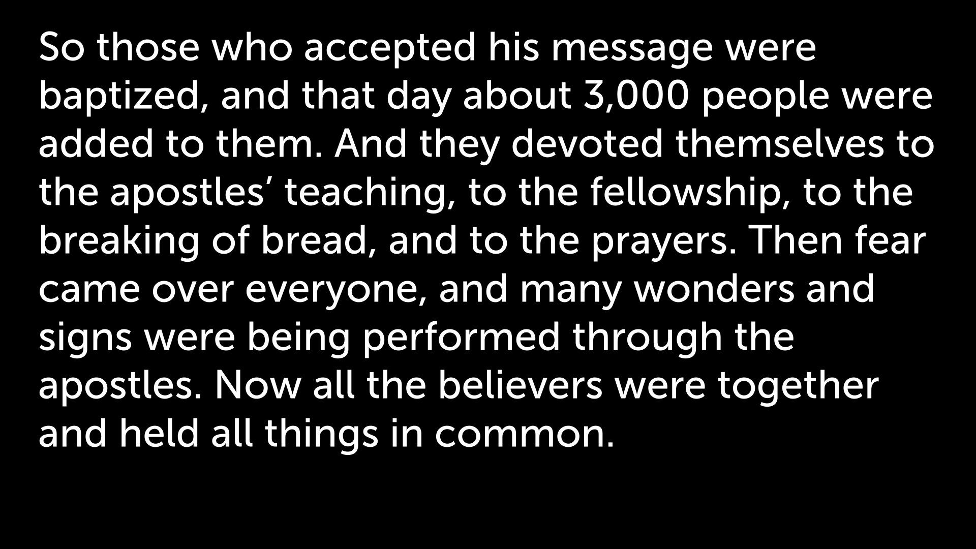 27 November MORNING (Acts 2:41-47) (2)